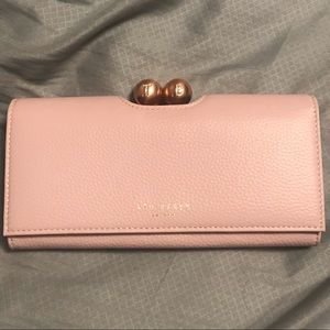 Ted Baker rose blush and rose gold wallet NWT